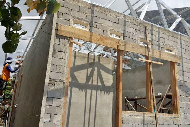 TAHAN GEMPA: Bantuan bedah rumah dari PT Semen Gresik memiliki keunggulan, salah satunya tahan gempa.