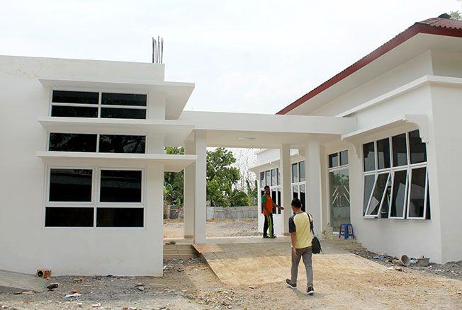 MANDEK: Shelter sosial khusus lansia Dinas Sosial Grobogan tahun ini tak ada pekerjaan.