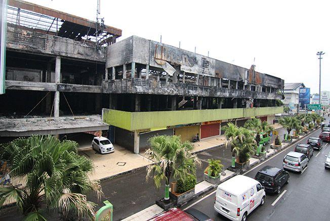 TERBAKAR: Bangunan Kudus Plaza akan segera dihapuskan dari daftar aset yang dimiliki Pemerintah Kabupaten Kudus.