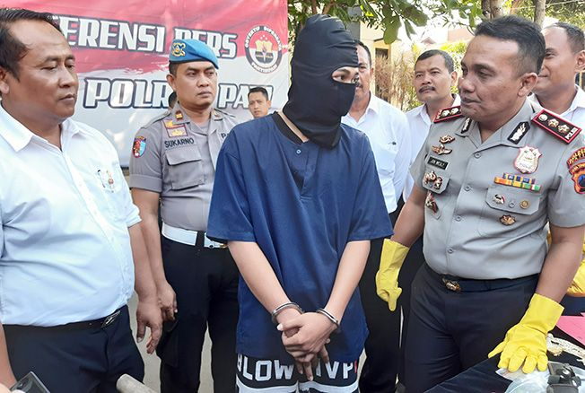 DIAMANKAN: Polres Pati mengamankan pelaku penganiayaan hingga mengakibatkan korban meninggal dunia di Trangkil dan Dukuhseti beberapa waktu lalu.