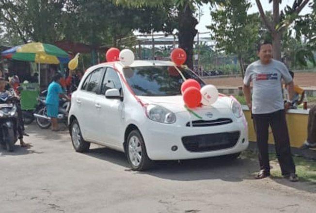 BERANI: Salah satu cakades di Kecamatan Kota beri hadiah mobil. Dengan catatan jika terpilih.