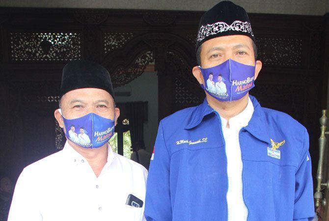 SOLID: Supriyanto Eko Praptomo dan Gunasih Ketua dan Wakil Ketua Tim Pemenangan Harno-Bayu solid memenangkan calon mereka di pilkada Rembang Desember mendatang.