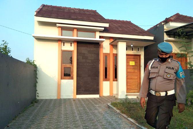 DISITA: Salah satu dari ratusan rumah disita oleh Bareskrim Polri karena terkait dugaan kasus korupsi KPR.