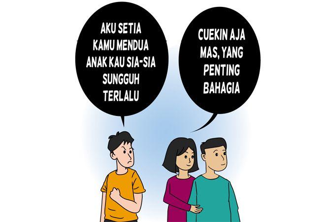 Istri Diembat Sahabat Sendiri