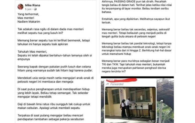 skrinsut curhatan surat ke menteri viral