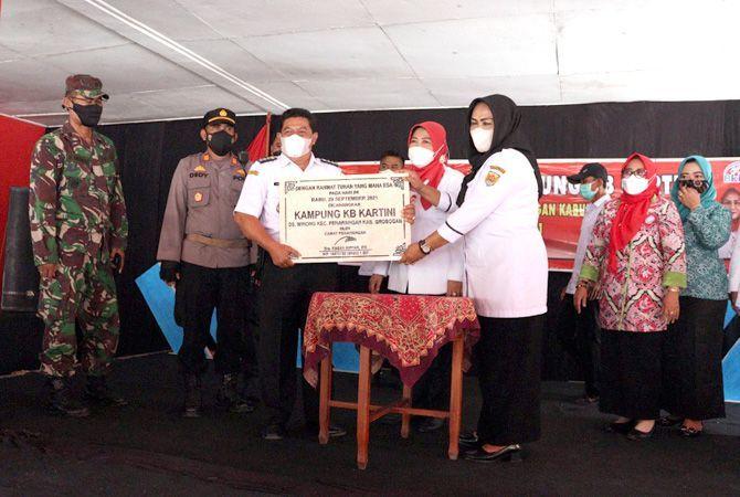 DICANANGKAN: Pencanangan Kampung KB di Desa Banjarejo, Kecamatan Gabus kemarin.