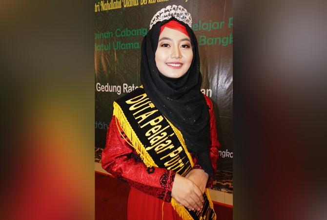 ANGGUN: Duta Pelajar Putri Nahdlatul Ulama Rifanissa Eka Pratiwi.