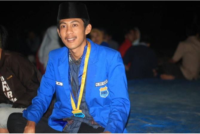 SEMANGAT MUDA: Ketua (Demisioner) PC PMII Sumenep Alif Rofiq.