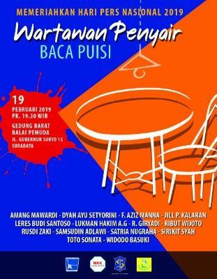 HPN, 14 Wartawan Baca Puisi di Balai Pemuda Surabaya