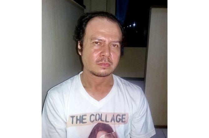 TERCIDUK: Tersangka Januar Hariyanto Tatengkeng ketika berada di Mapolres Sumenep kemarin.
