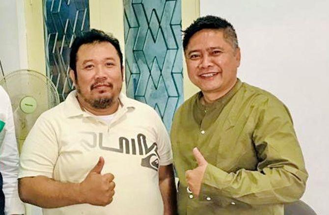 KOMPAK: Direktur Utama PT Amin Jaya Karya Abadi H Ikhwan Amin, dan Direktur JPRM Abd. Aziz.