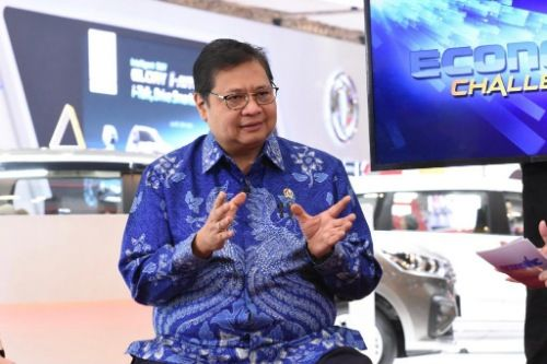 BERWIBAWA: Menteri Koordinator Bidang Perekonomian Airlangga Hartarto selaku Ketua Dewan Sumber Daya Air Nasional.