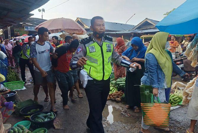 RESIDIVIS: Muhsin diamankan polisidari Pasar Kolpajung, Kecamatan Kota Pamekasan, kemarin.