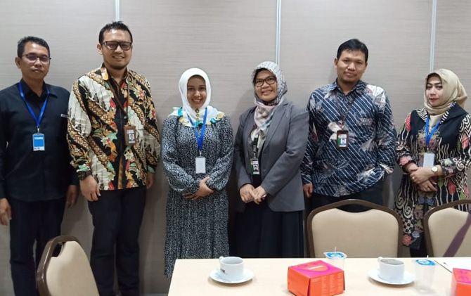 Wali Kota Ika Puspitasari saat berkoordinasi dengan KPK di gedung Merah Putih, Jakarta.