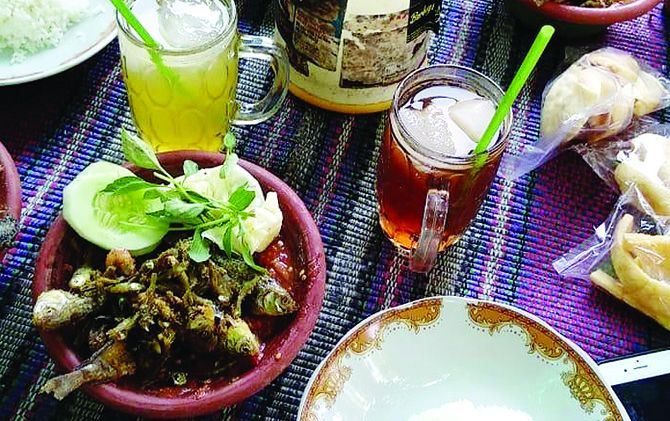 Sambel wader Segaran, Trowulan, kuliner khas Kerajaan Majapahit.