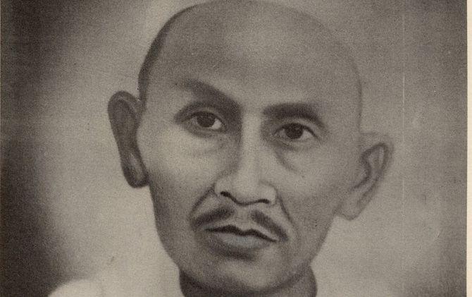 Sketsa KH Mustofa semasa hidup.