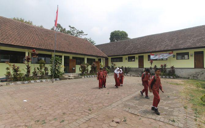 Gedung SDN Kesiman, Kecamatan Trawas, yang sudah tidak berpenghuni bakal ditempati TK.