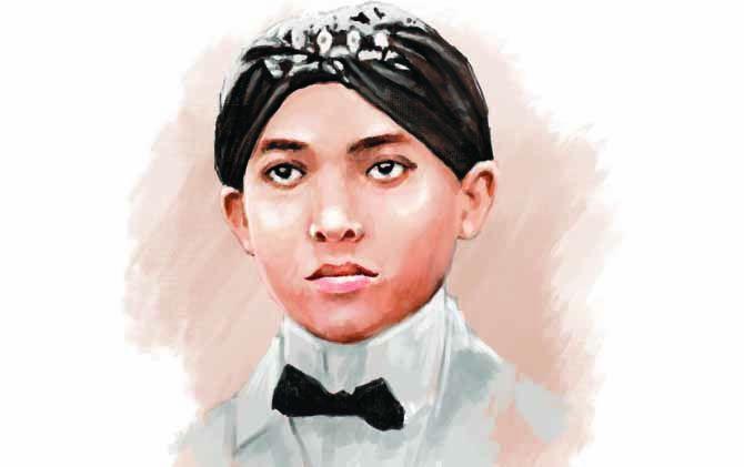 Ilustrasi Soekarno masa kecil di Mojokerto.