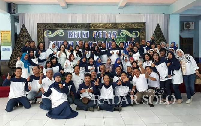 Alumni SMAN 2 Surakarta saat menggelar reuni perak akhir pekan kemarin.