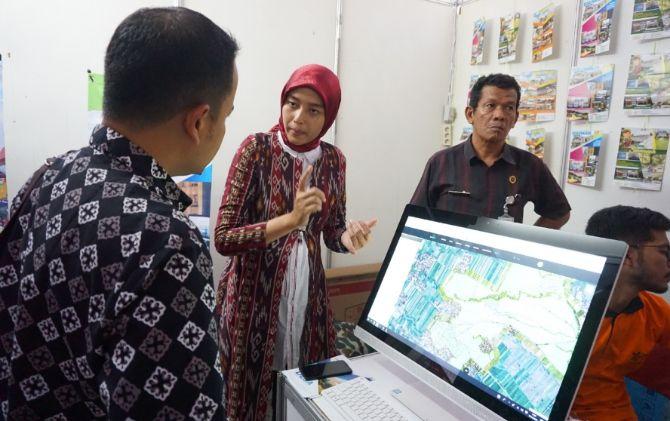 Peta digital Desa Ponggok yang dipamerkan dalam pameran inovasi desa beberapa waktu lalu.