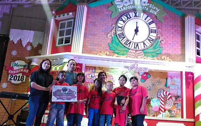 Semarak Santa Story di Solo Paragon Lifestyle Mall, Sabtu (15/12).