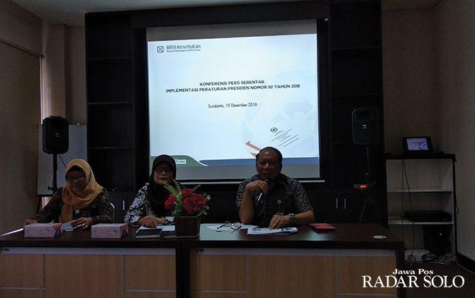 JELAS: Kepala BPJS Kesehatan Cabang Surakarta Agus Purwono beri paparan tentang Perpres Nomor 82/2018.
