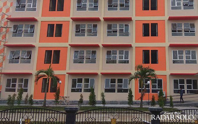 LIMA LANTAI: Rusun Mangkubumen di Kelurahan Mangkubumen, Kecamatan Banjarsari yang dibangun dengan anggaran Rp 22 miliar.