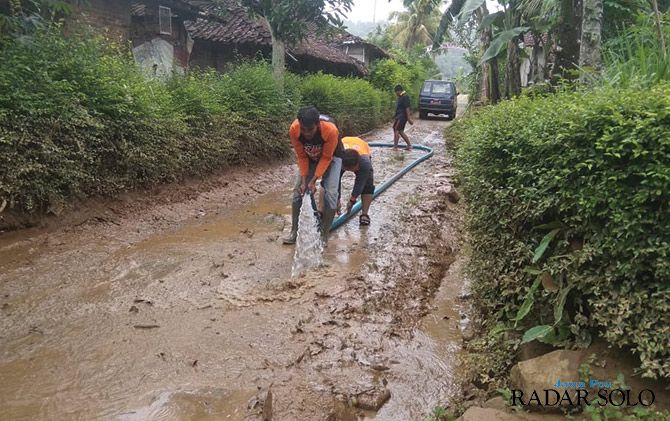 Lagi, Belasan Rumah Terendam Banjir Karangturi Wonogiri