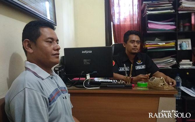 PASRAH: Nurwanto diperiksa penyidik Polres Wonogiri Kamis kemarin (5/2)
