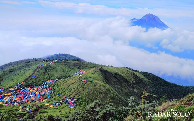 Banyak kerusakan di jalur pendakian Gunung Merbabu