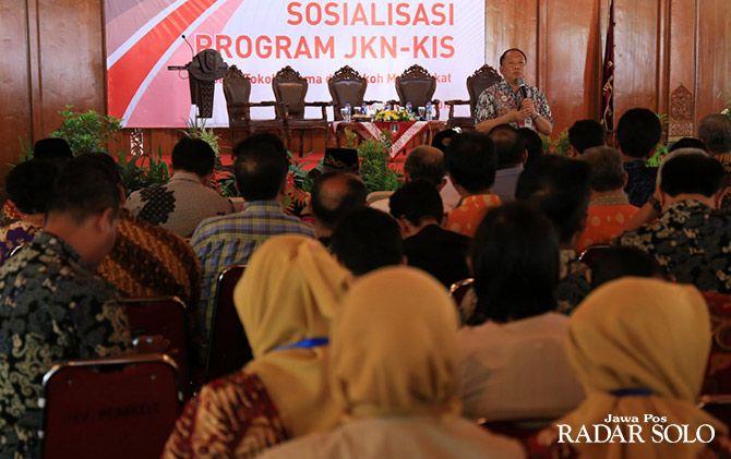 Sosialisasi program JKN KIS di Balai Kota Surakarta beberapa waktu lalu
