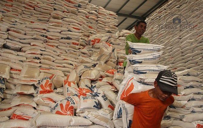 Stok Pangan Sukoharjo Aman hingga 4 Bulan, Beras Bulog 2.400 Ton