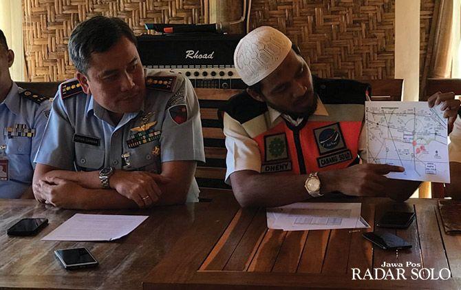 Airnav cabang Kota Solo bersama dan Lanud Adi Soemarmo menggelar jumpa pers terkait laporan pilot tentang balon udara liar