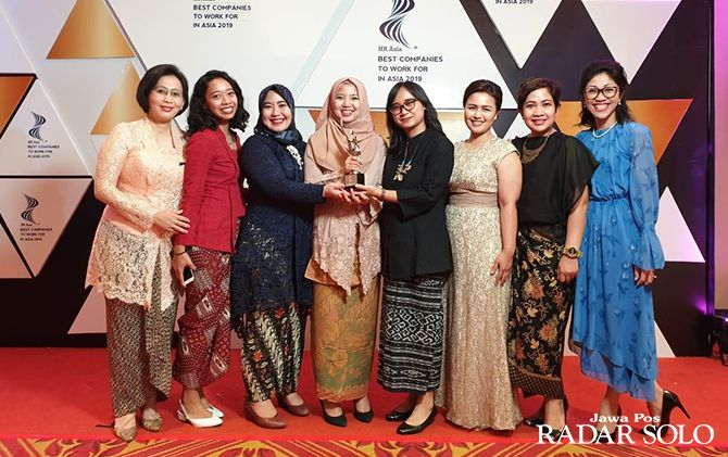 TERBAIK: Penghargaan Best Companies to Work for In Asia 2019 untuk Amatil Indonesia.