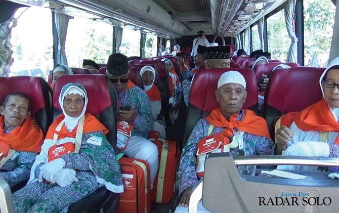 TAMU ALLAH: Pelepasan CJH asal Kabupaten Boyolali.