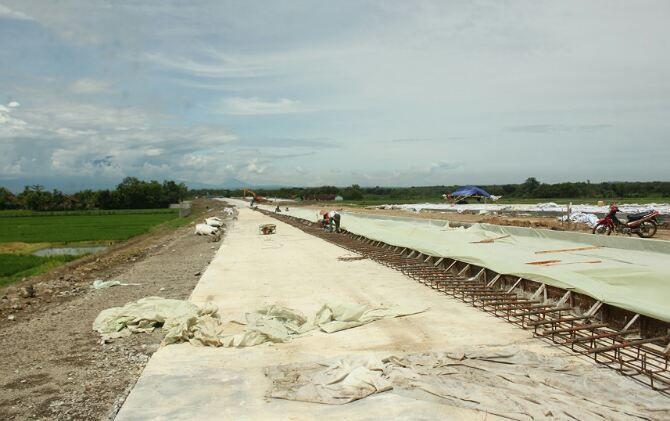 Ilustrasi pembangunan jalan tol di wilayah Boyolali