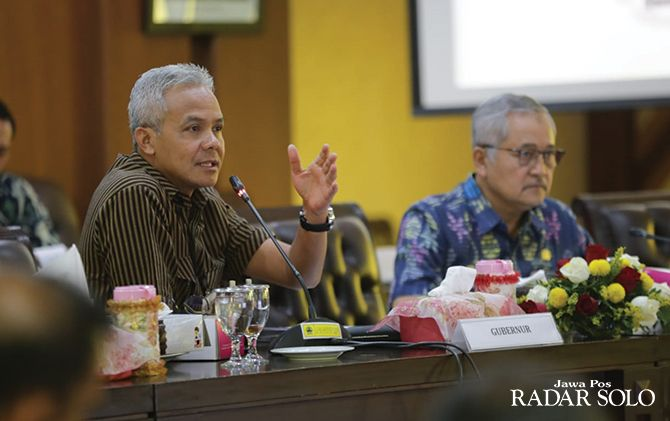 Gubernur Ganjar Pranowo Saat Rakor Pengendalian Pelaksanaan APBD 2019
