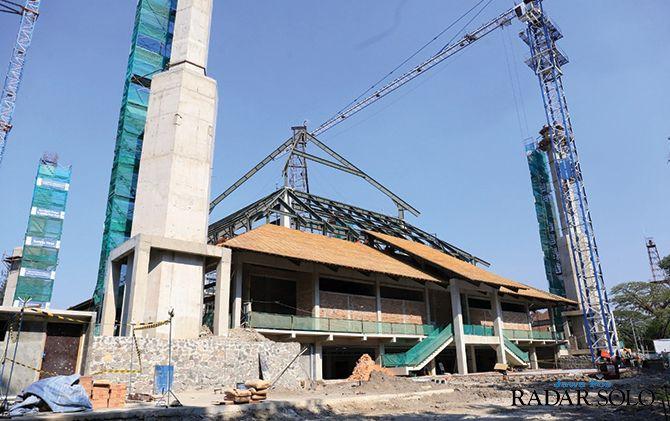 PT Wika berkomitmen bisa merampungkan pembangunan Masjid Taman Sriwedari Surakarta sesuai target