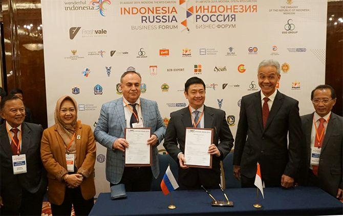 Delegasi Jawa Tengah di Festival Indonesia Moscow yang dipimpin oleh Gubernur Ganjar Pranowo.