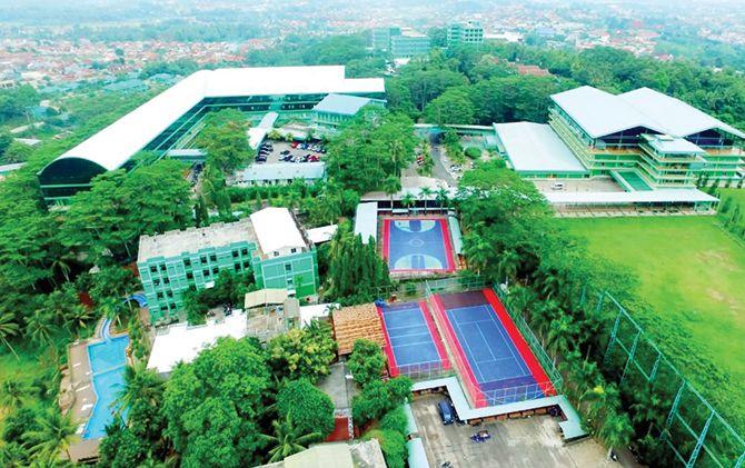 Universitas Malahayati menempati area 84 hektare di kawasan Kemiling, Bandar Lampung