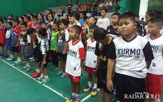 ATLET POTENSIAL: Suasana event Djarum Foundation-Kejurkab PBSI Sragen 2019 yang digelar di GOR GOR Diponegoro.