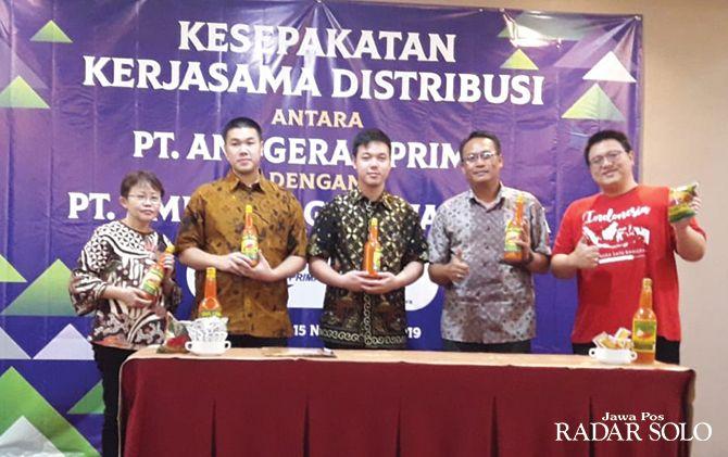 SINERGI: Kerja sama distribusi antara PT Anugerah Prima dengan PT KMR Bahagia Sejahtera.