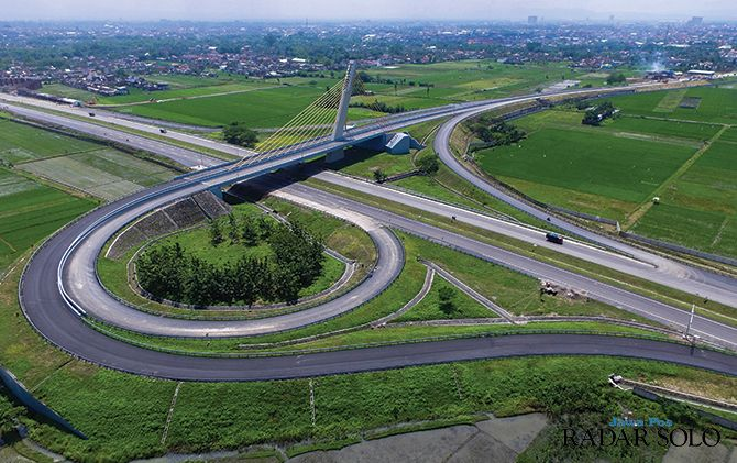 Junction Ngemplak, Boyolali pada Tol Trans Jawa segmen Solo-Kertonoso. Ditjen Bina Marga Kemen PUPR terus berupaya sediakan infrastruktur jalan berkelanjutan