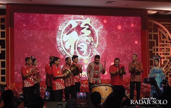 Segenap Forkopimda Kota Surakarta bersama perwakilan Perhimpunan Masyarakat Surakarta saat pembukaan Solo Imlek Festival beberapa waktu lalu