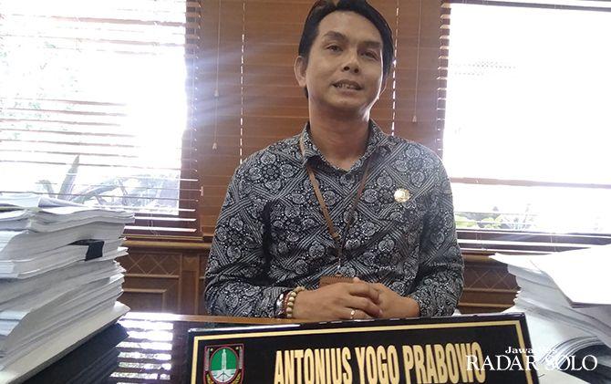 Ketua DPC PSI Solo sekaligus relawan Kancane Gibran Gaes (Kagege) Antonius Yogo Prabowo.