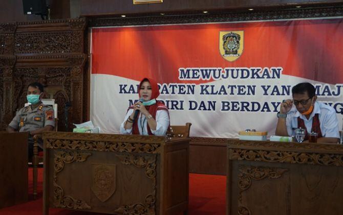 Ketua Gugus Tugas Percepatan Penanganan Covid-19 Klaten Sri Mulyani