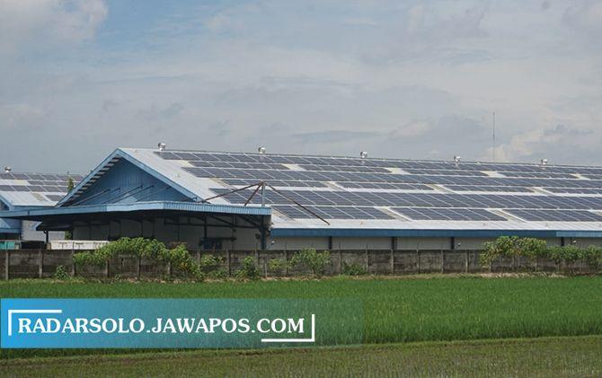 COLLAR CELL atap Pabrik AQUA Klaten diganti dengan yang mampu mengolah  energei dari matahari