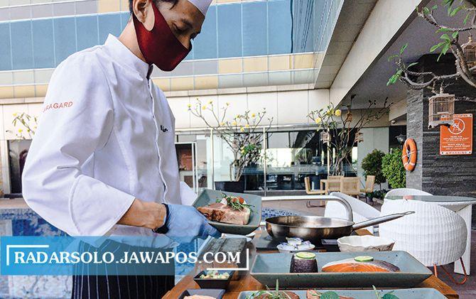 AHLINYA: Pengolahan daging sapi terbaik oleh chef The Alana Hotel & Convention Center Solo
