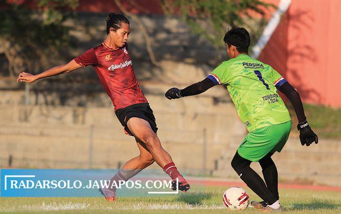 Laga Persis Solo kontra Persika Karanganyar di Stadion UNS pada 7 Oktober 2020 lalu.