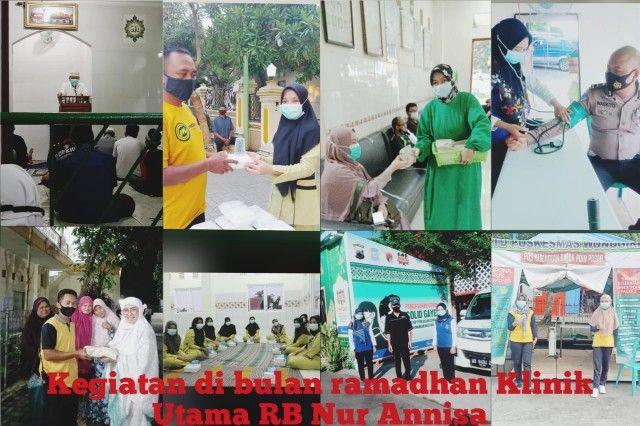 BERBAGI: Klinik Utama Rb NUR ANNISA menyelenggarakan berbagai kegiatan di bulan penuh berkah.